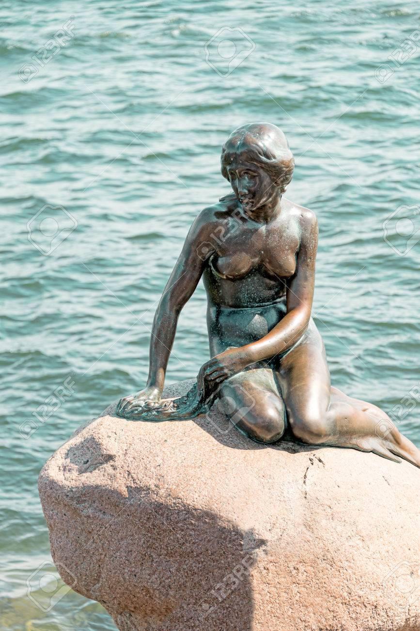 copenhagen denmark may 18 little mermaid is a bronze statue