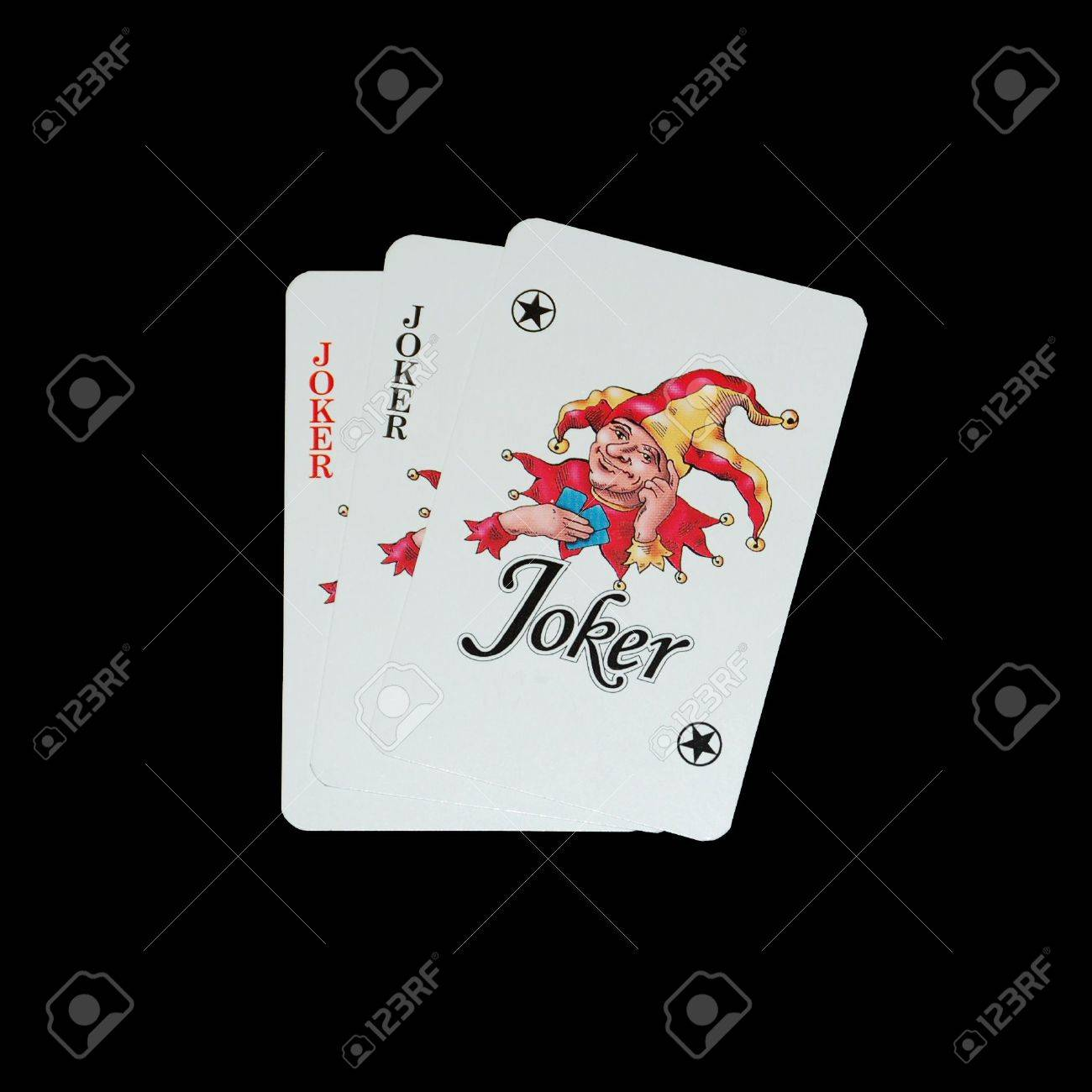 Playing Cards Isolated On Black Background Joker Stock Photo Picture And Royalty Free Image Image 768569