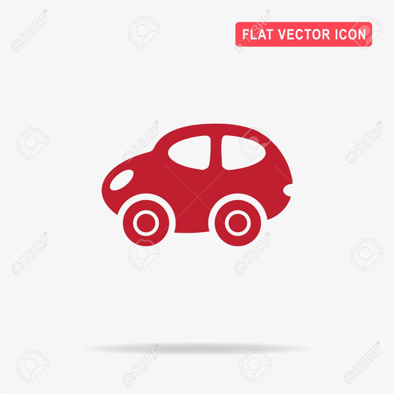 Toy Car Icon Vector Concept Illustration For Design Royalty Free