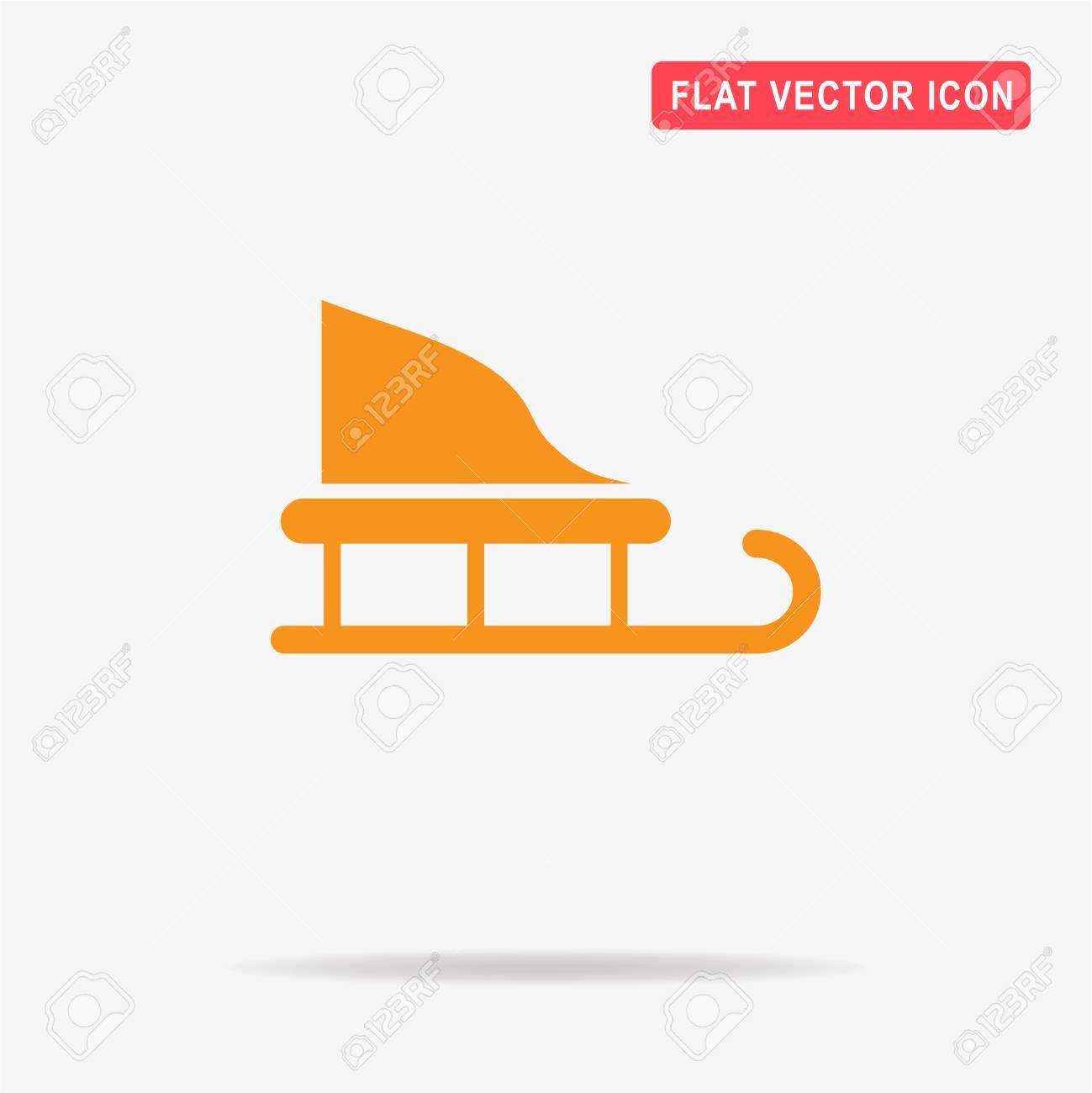 Weihnachts-Schlitten-Symbol. Vektor-Konzept Illustration Für Design ...