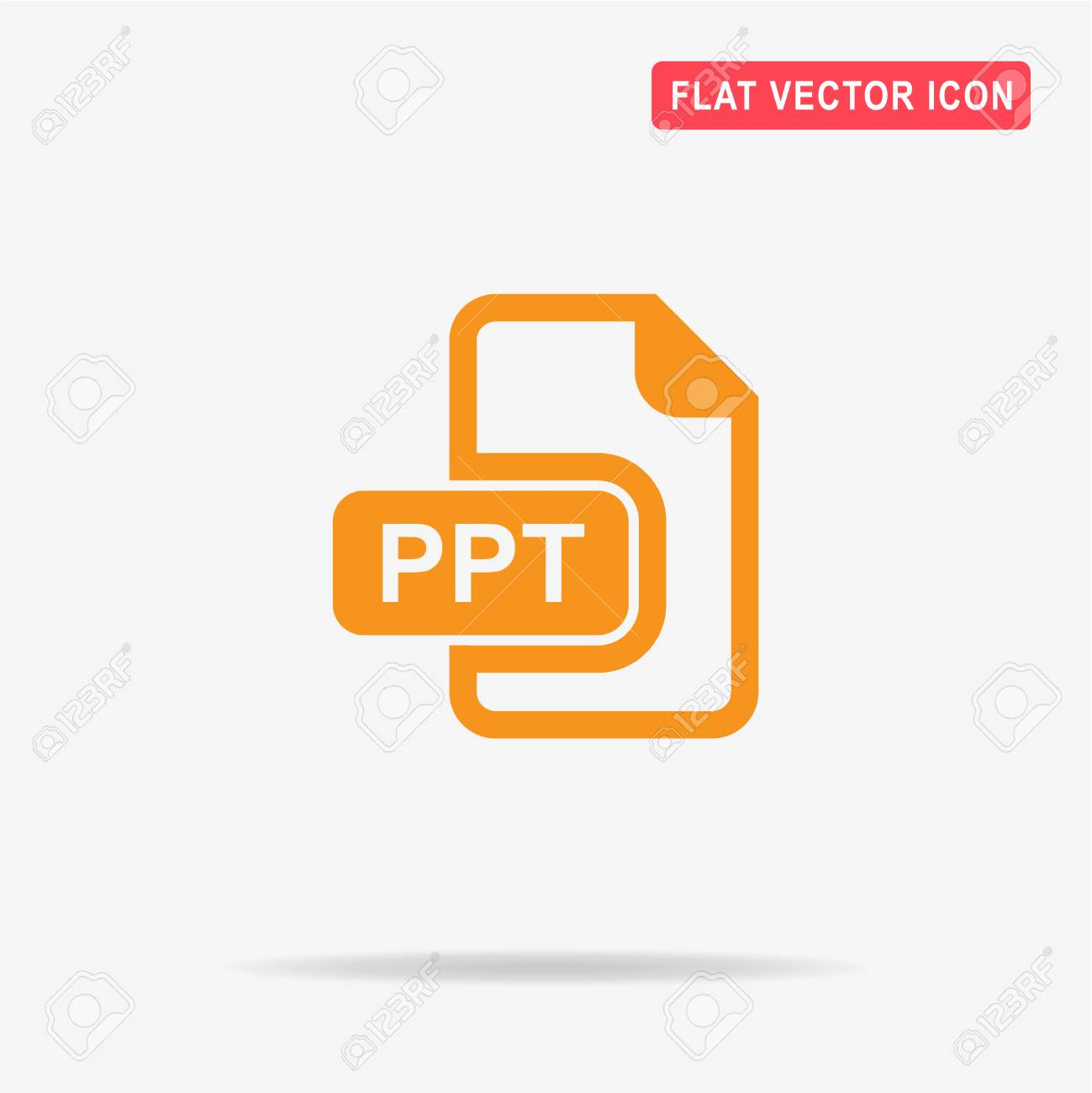 ppt icon vector concept illustration for design royalty free