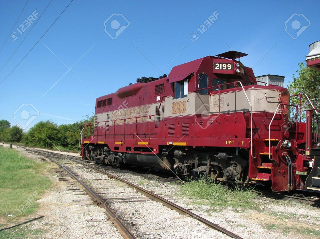 Vintage Rail Road Train Engine Stock Photo - 1862184