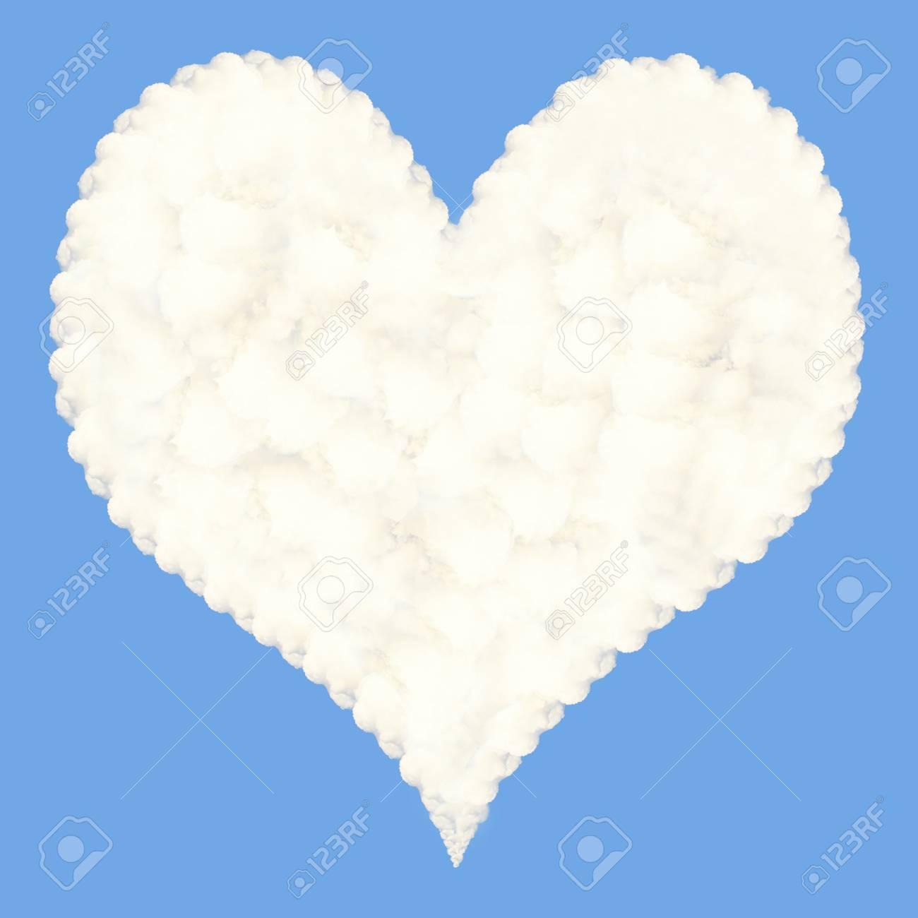 Heart-shaped cloud Stock Photo - 15956763