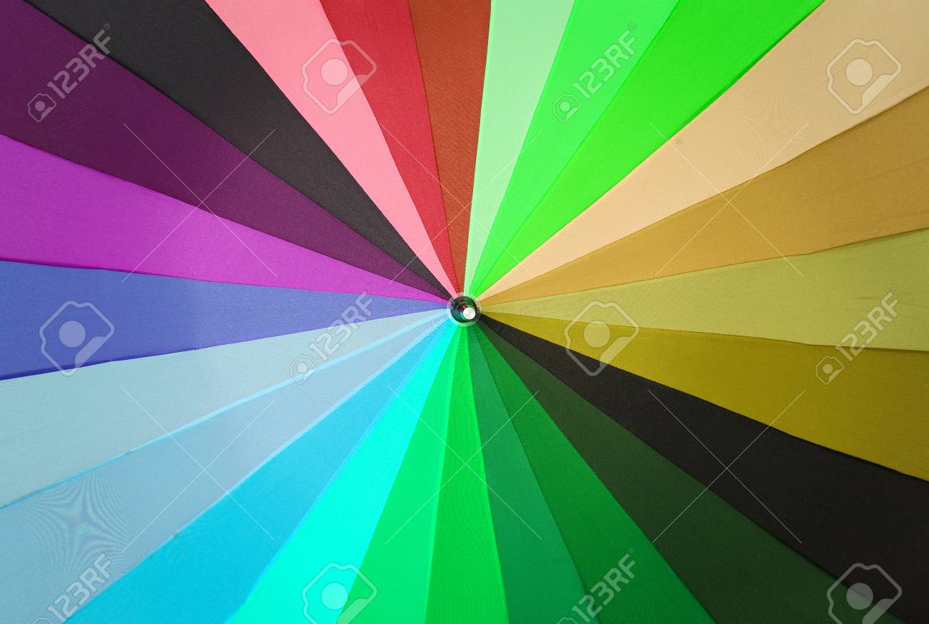 Colorful Umbrella For A Colorful Background. Stock Photo, Picture ...