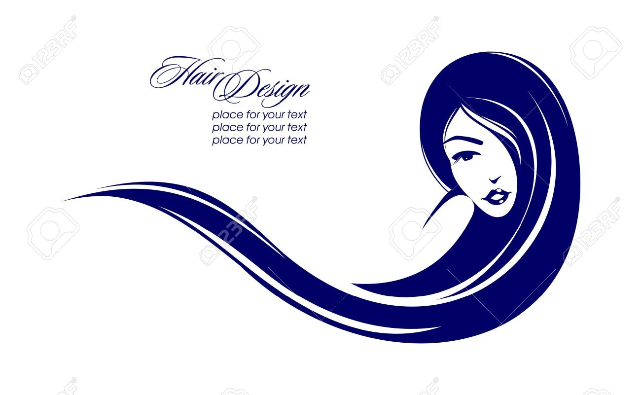 girl with long hair place for your text vector illustration rh 123rf com hair vector images hair vector tutorial