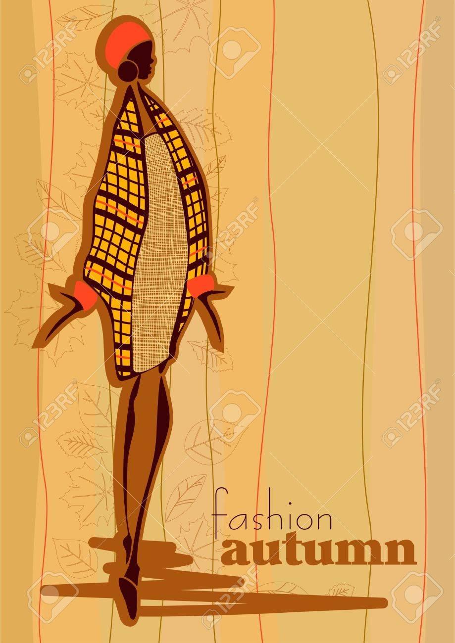 Stock Vector Illustration: Fashionable girl. Autumn. Stock Vector - 10519828