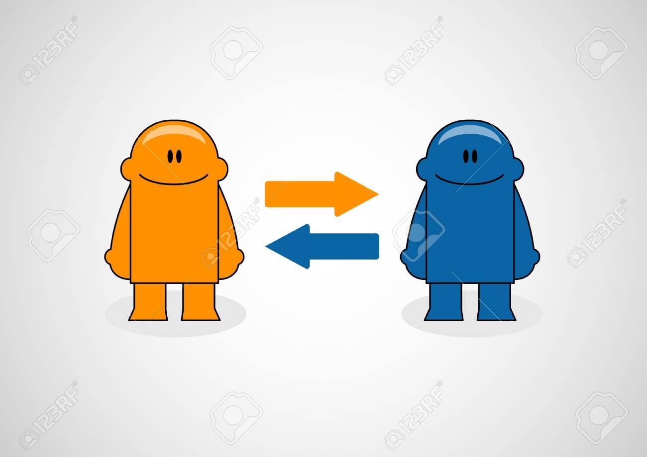 Social Network illustration of funny little men Stock Vector - 13262094