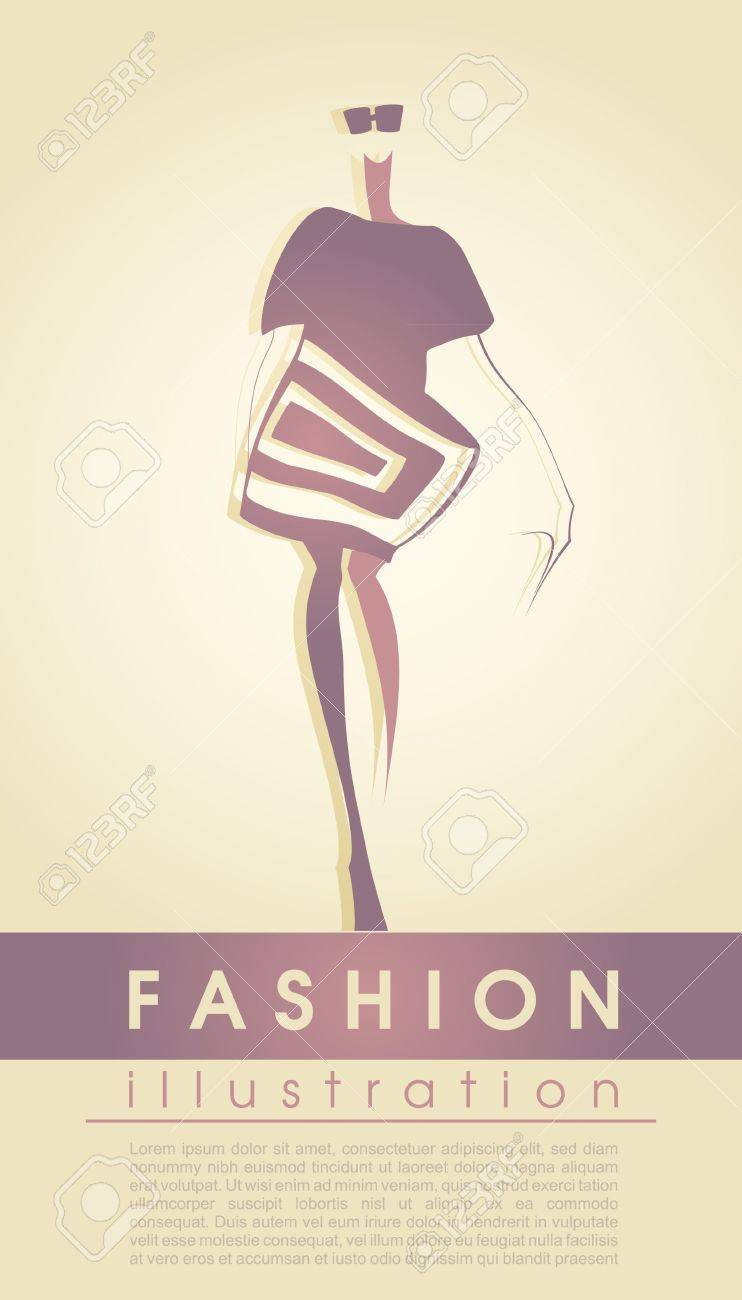 Fashion model Stock Vector - 15015793