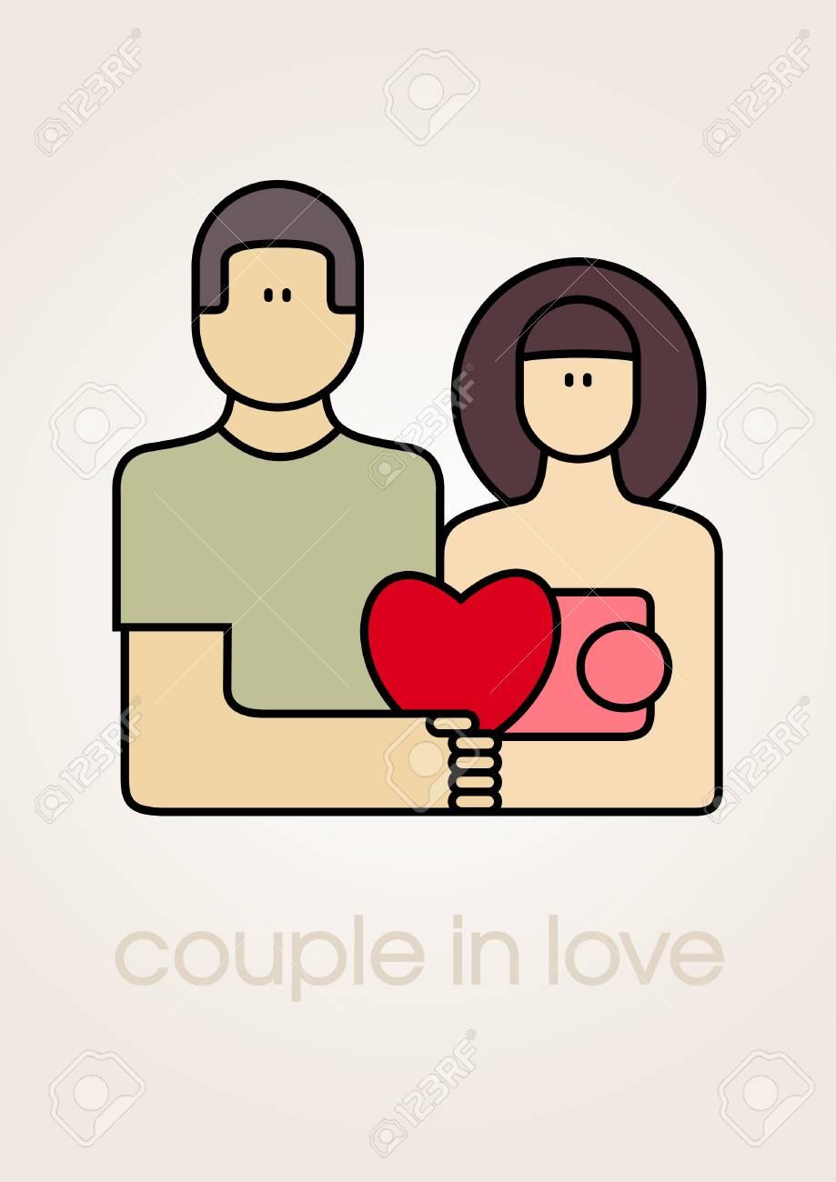 Love couple icon_Vector illustration Stock Vector - 14844551