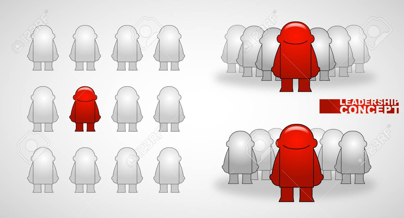 Team leader_Vector illustration Stock Vector - 14978961