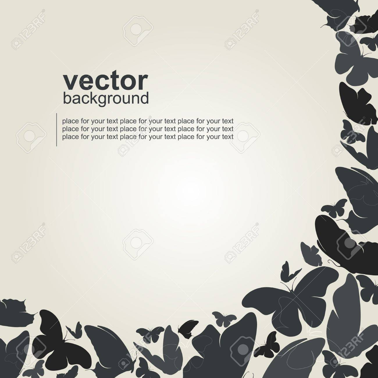 Beautiful butterfly background Stock Vector - 15095094