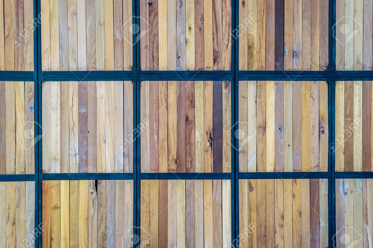 Cover Wood With Steel Frame And Wood Panel Background Stock Photo 30999542 - Ll. Image Of How To Cover Wood Paneling Basement. Diy Home Repair