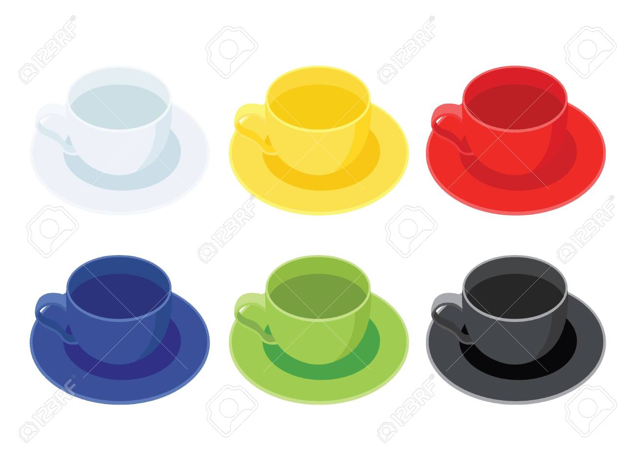 Coffee Cup On Saucer On White Background Illustration Vector Royalty Free Cliparts Vectors And Stock Illustration Image 155315189