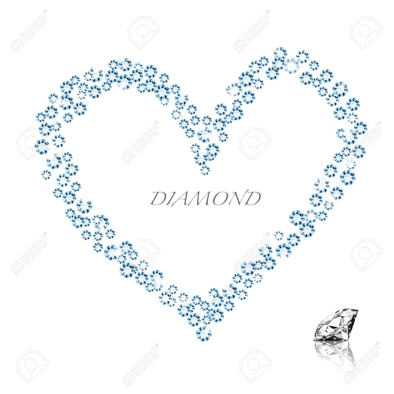 diamond heart on white background ,love valentine Stock Photo - 11824847