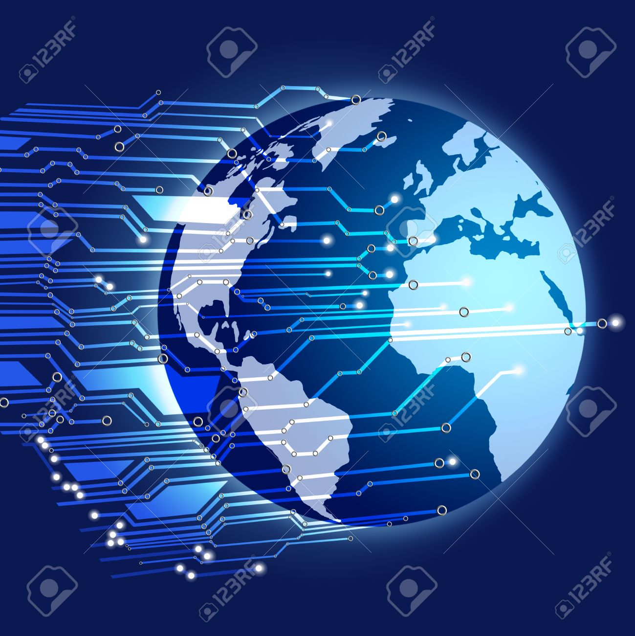 Globe with circuit board Stock Photo - 11824848