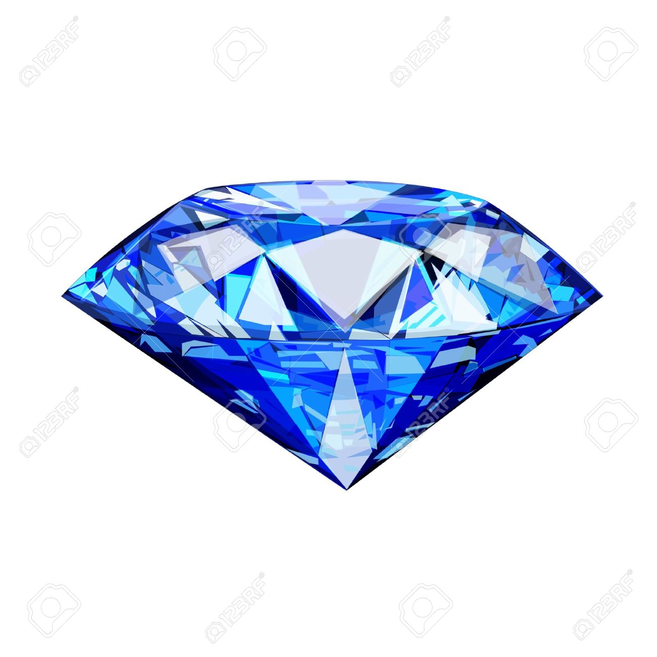 Single Blue Diamond Stock Photo, Picture And Royalty Free Image ...