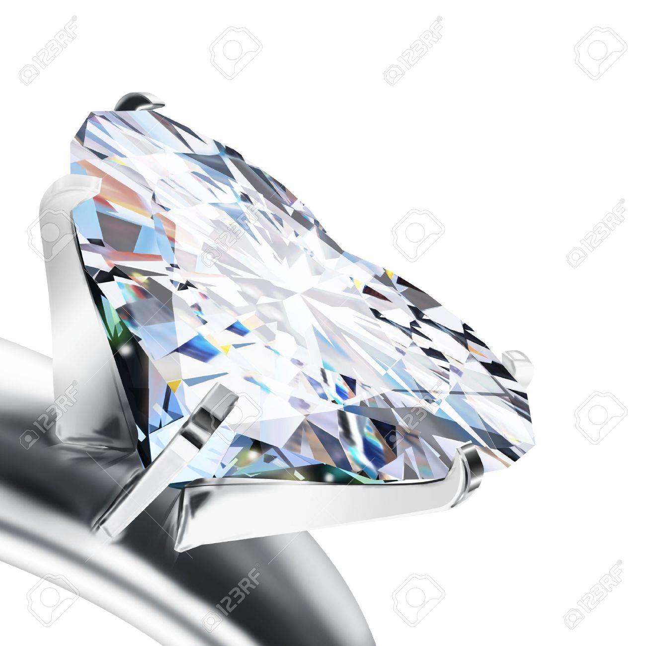 Diamantring herz  Brillantschliff Diamant-Ring Herz Lizenzfreie Fotos, Bilder Und ...