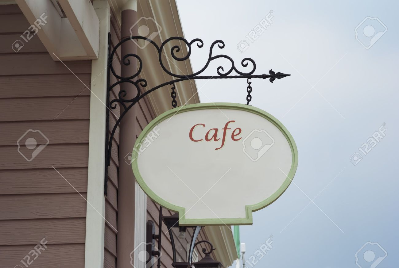 coffee shop sign vintage style Stock Photo - 12536557