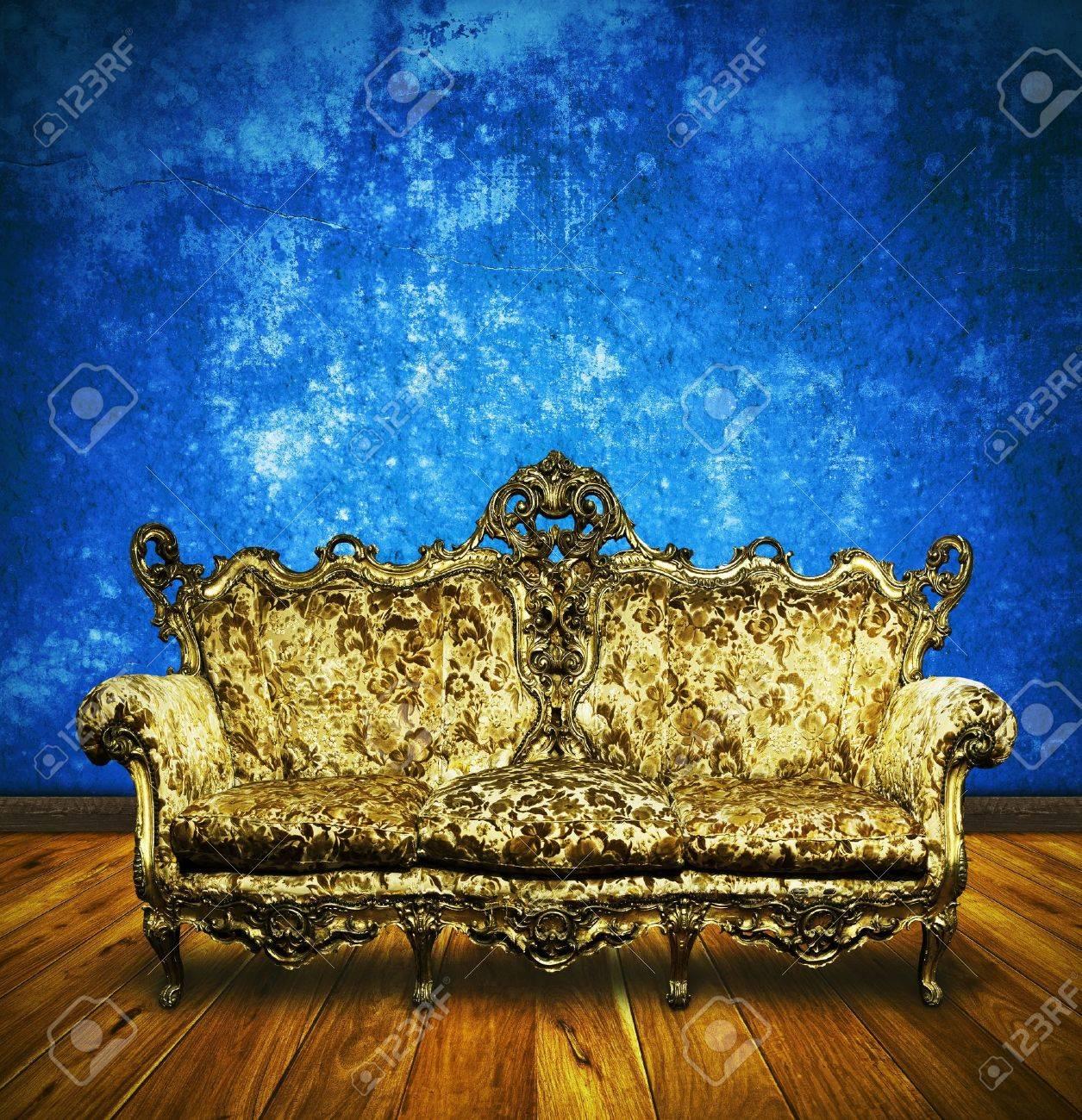 victorian sofa in retro room ,interior Stock Photo - 13080733