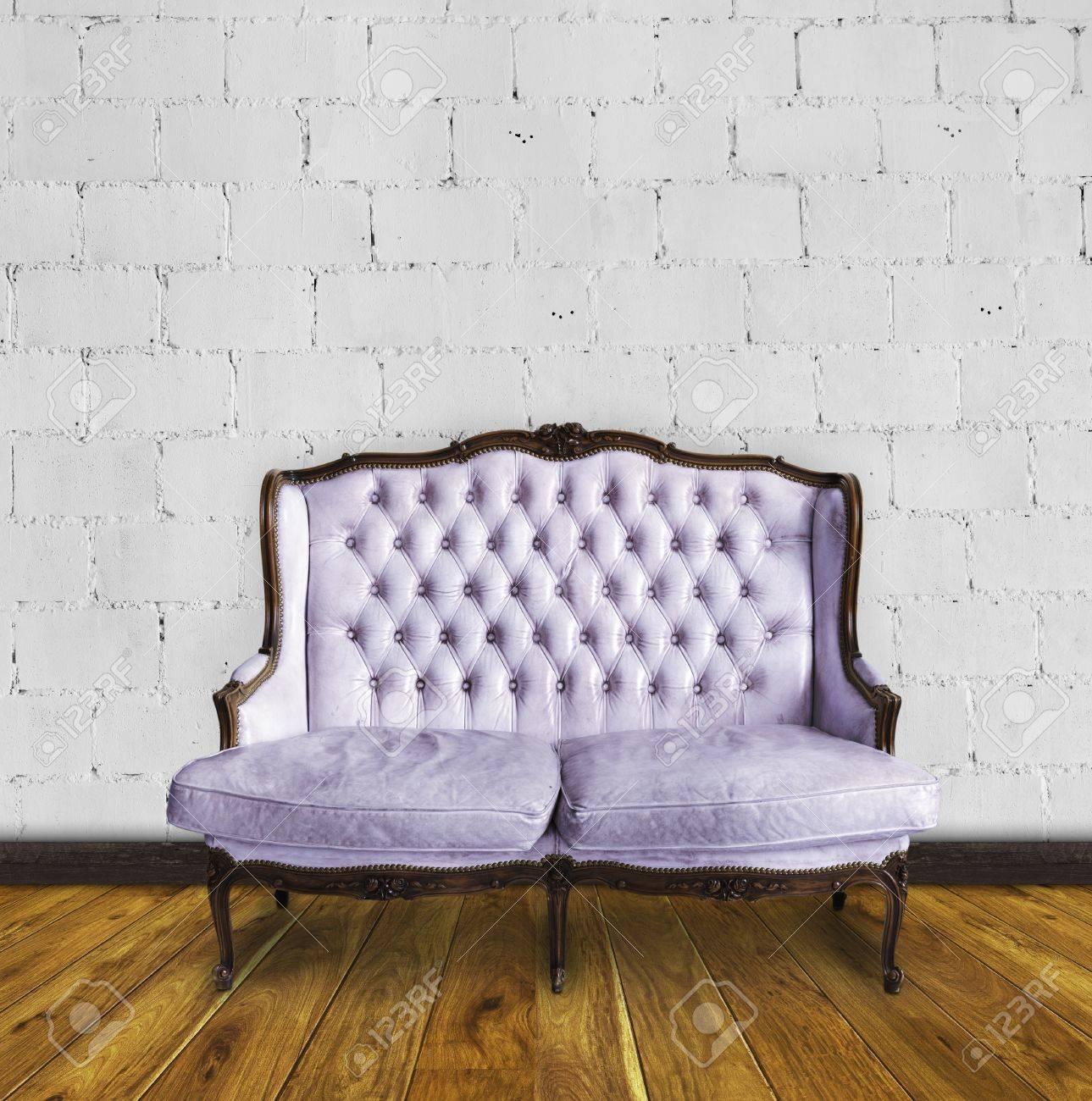 retro sofa in colorful room ,interior details Stock Photo - 13080739