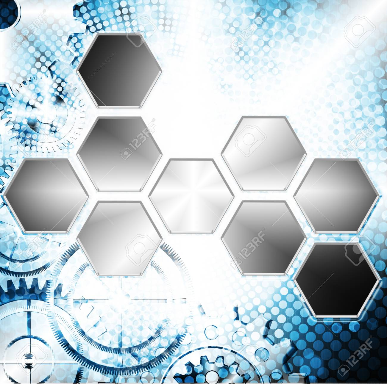 Technology And Industrial Background With Gear Wheel Stock Photo Circuit Board Graphic By Setsiri Silapasuwanchai
