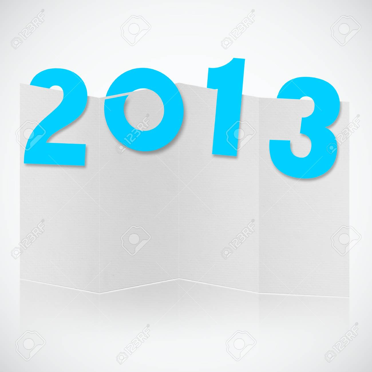 brochure design with font 2013 year Stock Photo - 14188493