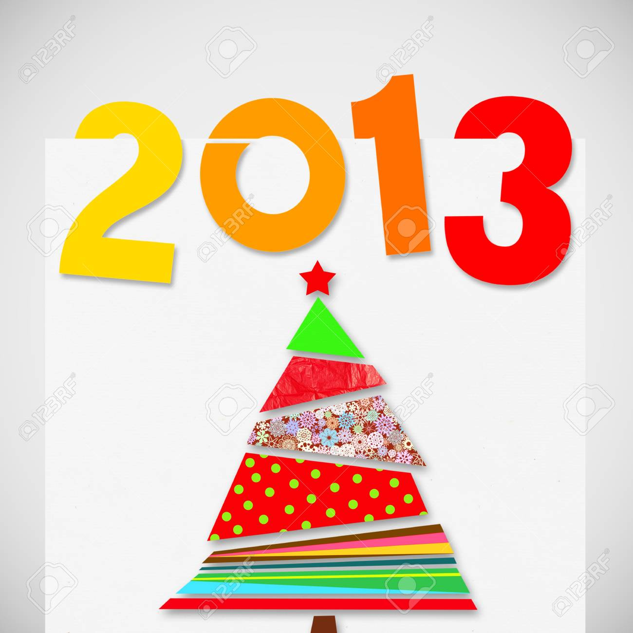 merry christmas and happy new year 2013 Stock Photo - 15174381