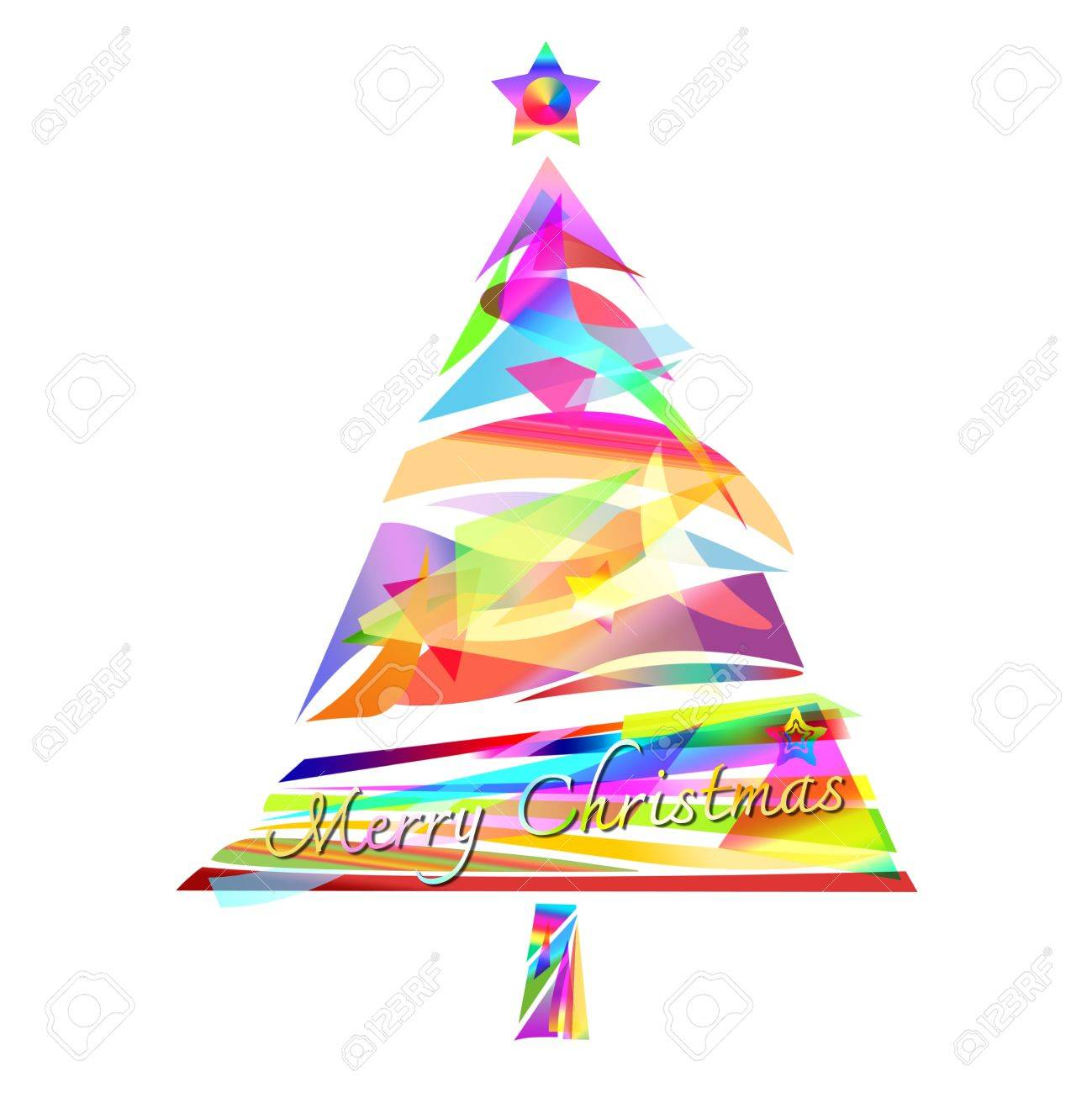 christmas tree design by abstract shape Stock Photo - 15320222