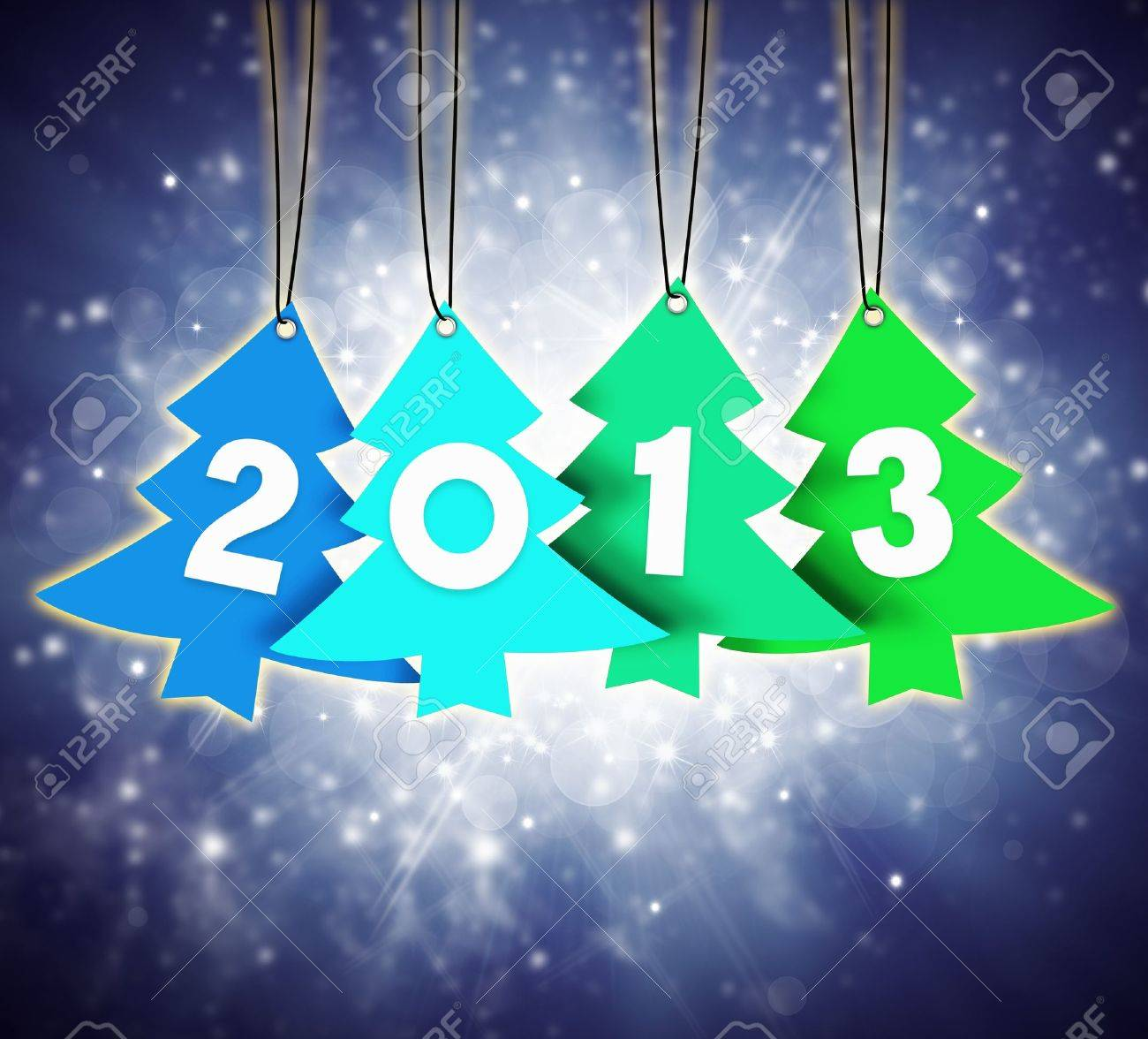 christmas and new year 2013 Stock Photo - 15393450