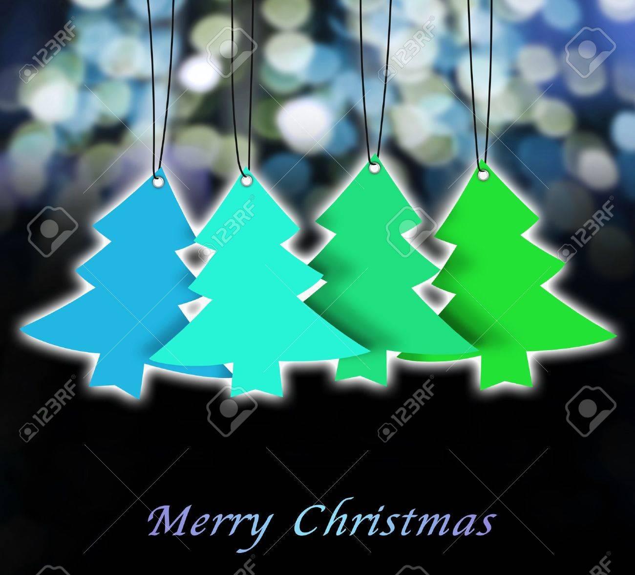 christmas card ,christmas tree ,christmas background Stock Photo - 15393456