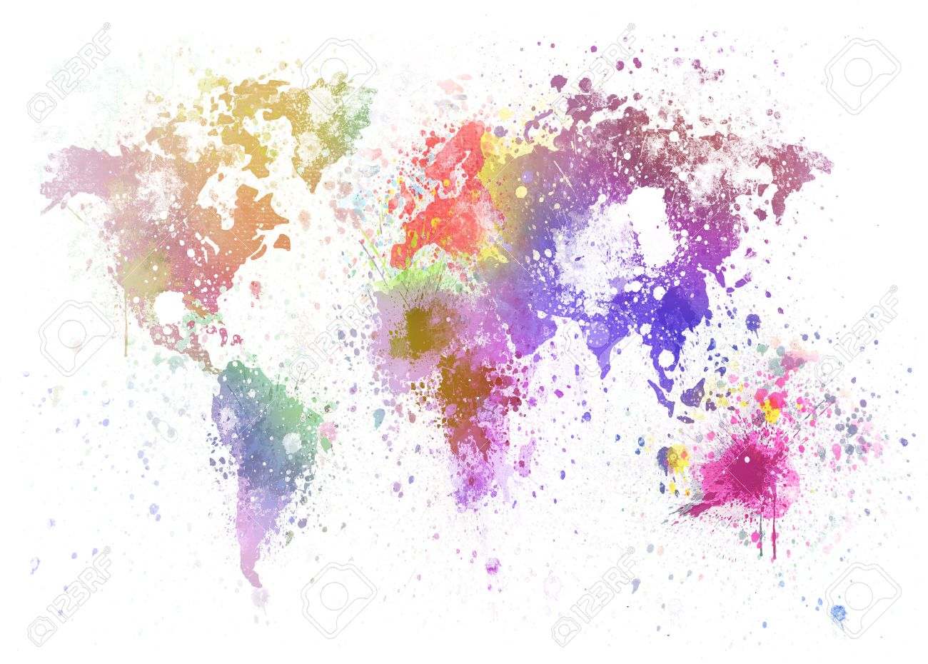 World map painting on hand made paper stock photo picture and stock photo world map painting on hand made paper gumiabroncs Images