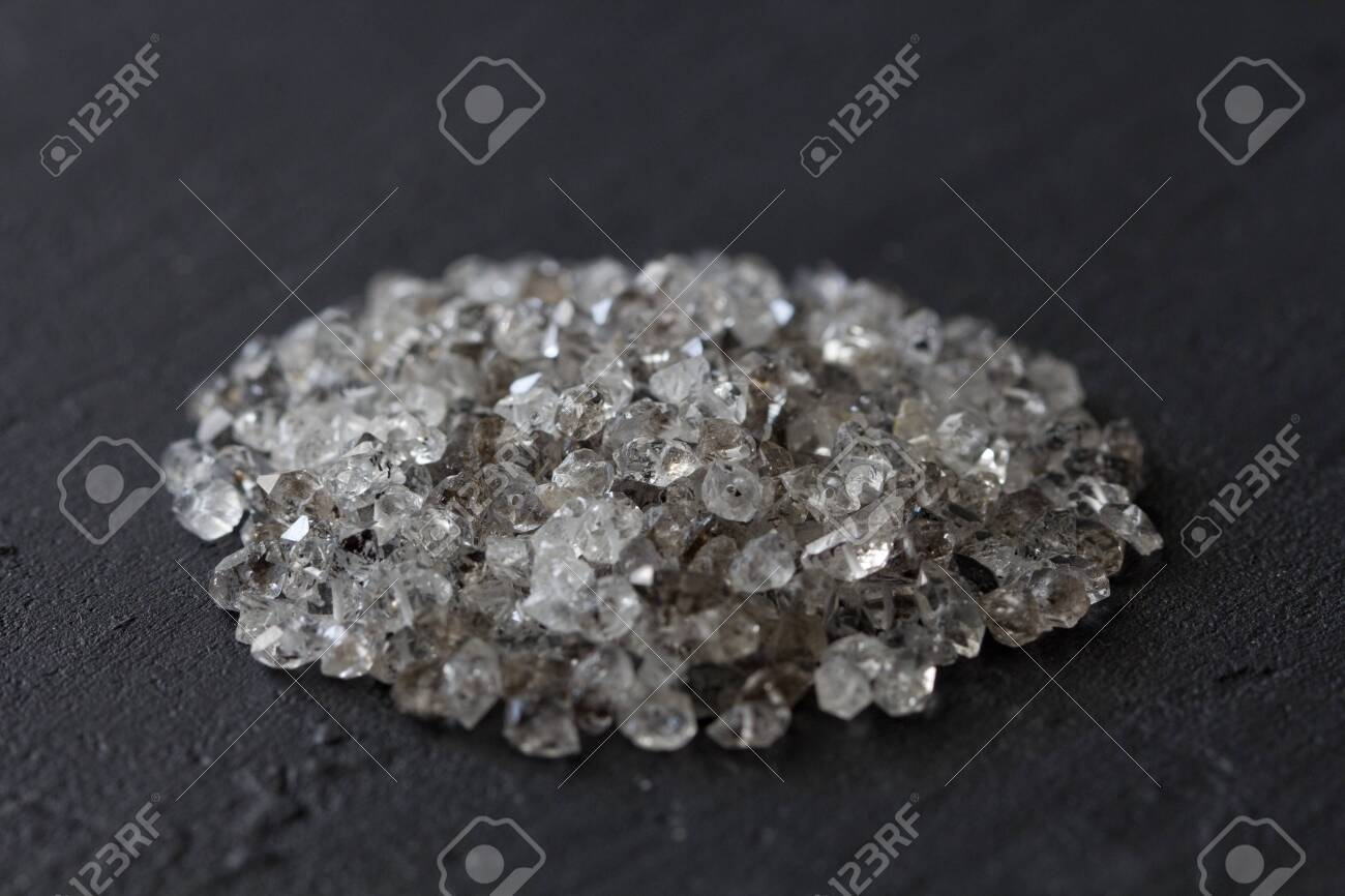 Scattered Diamonds On A Black Background Raw Diamonds And Mining Stock Photo Picture And Royalty Free Image Image 121994094
