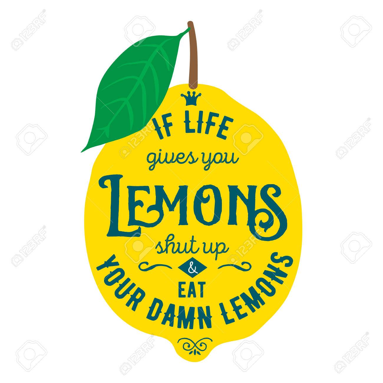 Vintage posters set motivation quote about lemons vector motivation quote about lemons vector llustration for t shirt greeting card poster or bag design if life gives you lemons shut up and eat your damn m4hsunfo