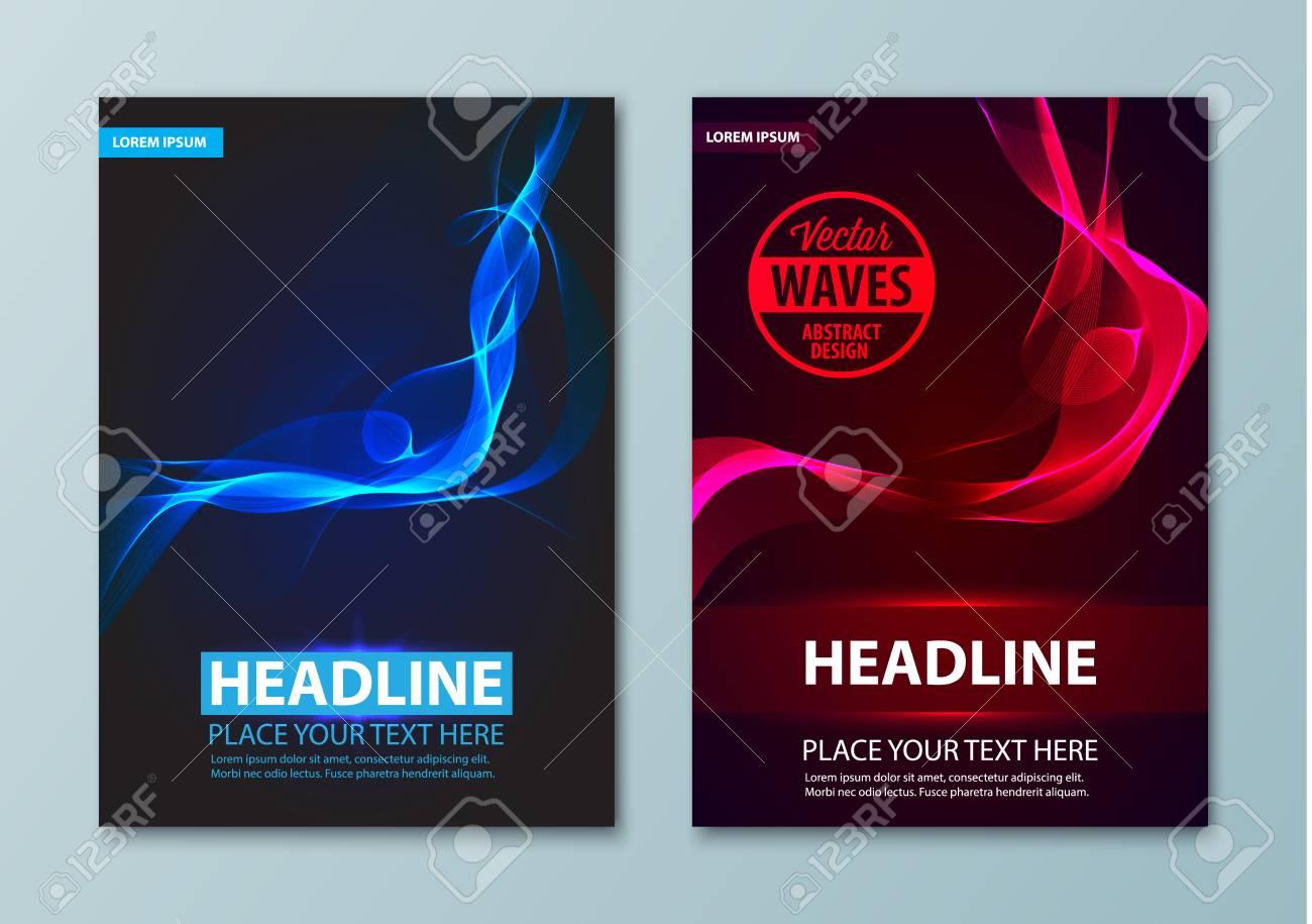 Abstrait Flyer Brochure Affiche Présentation Dépliants Carte De Visite Pages De Garde De Document Rapport Annuel Modèle De Vecteur De