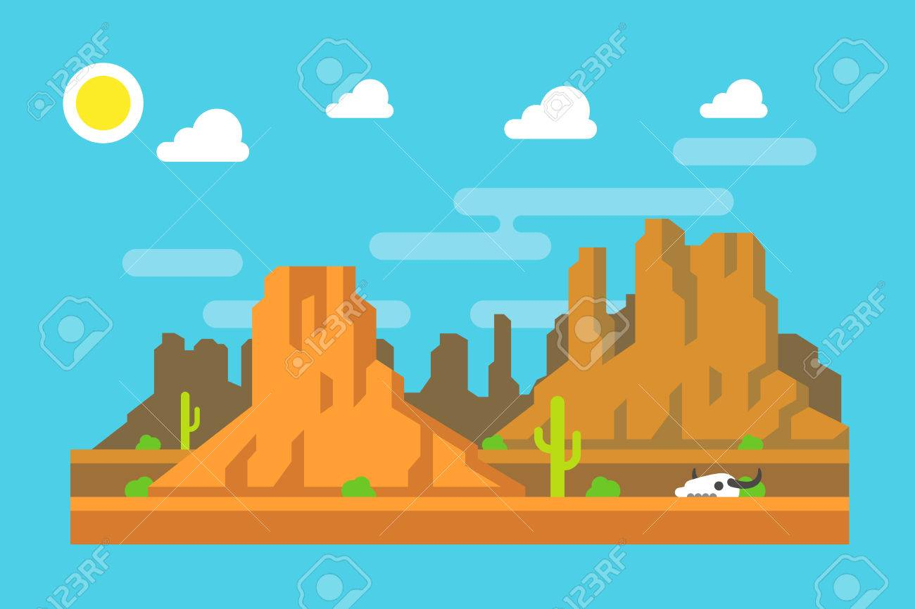 Canyon Landscape Clip Art