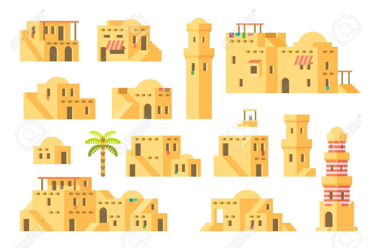 フラットなデザイン アラブ泥家イラストのイラスト素材ベクタ Image