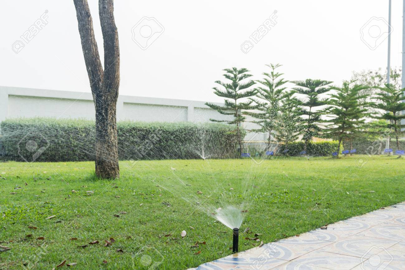 Den Rasen Gießen Garten Bewässerungssystem Bewässerung Rasen