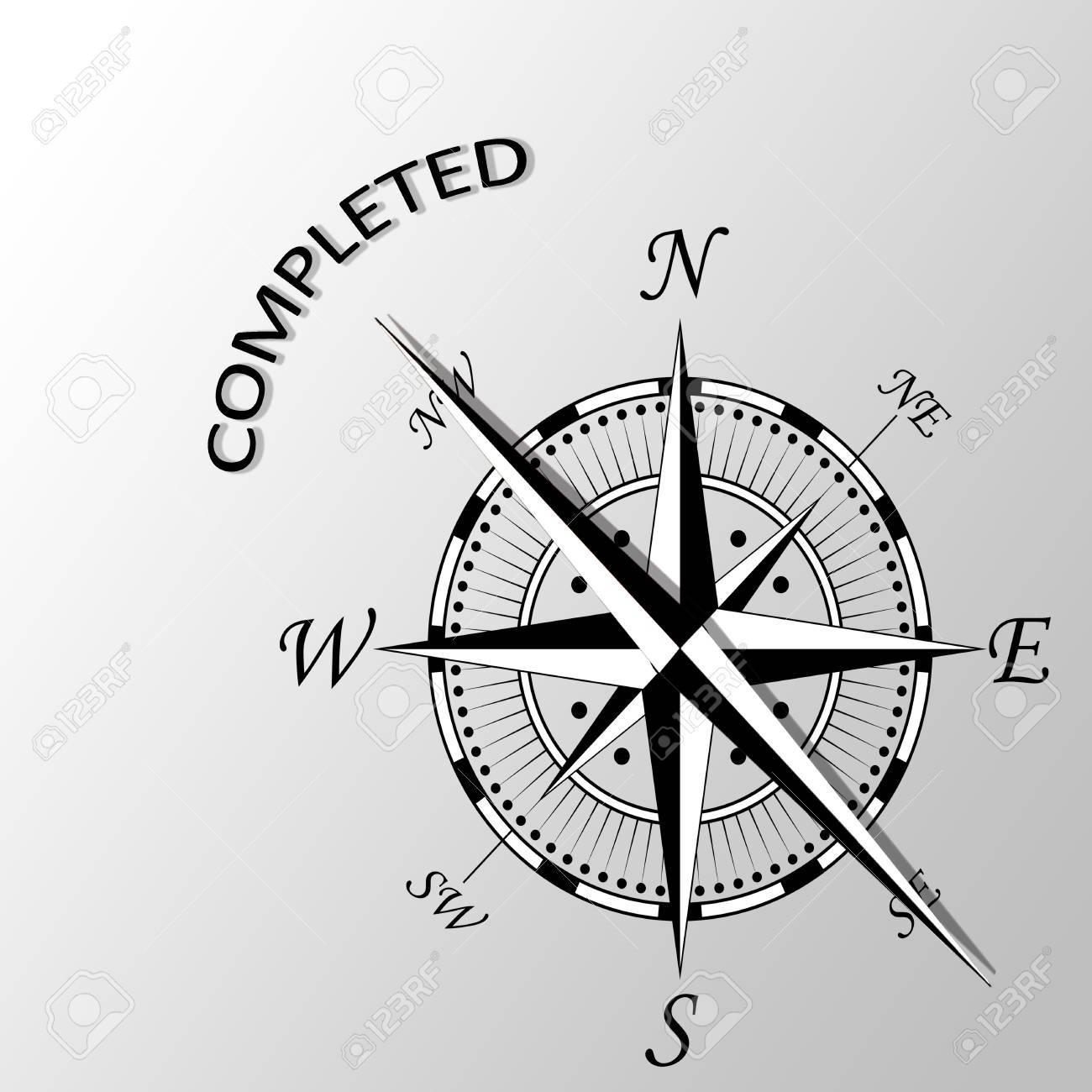 完成した文章で脇コンパスのイラスト の写真素材画像素材 Image 66548033