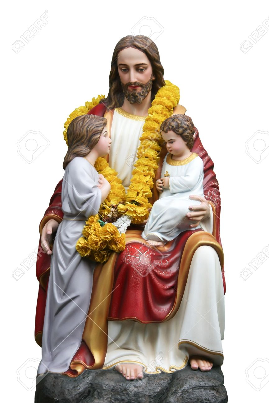 the love of jesus with children stock photo picture and royalty