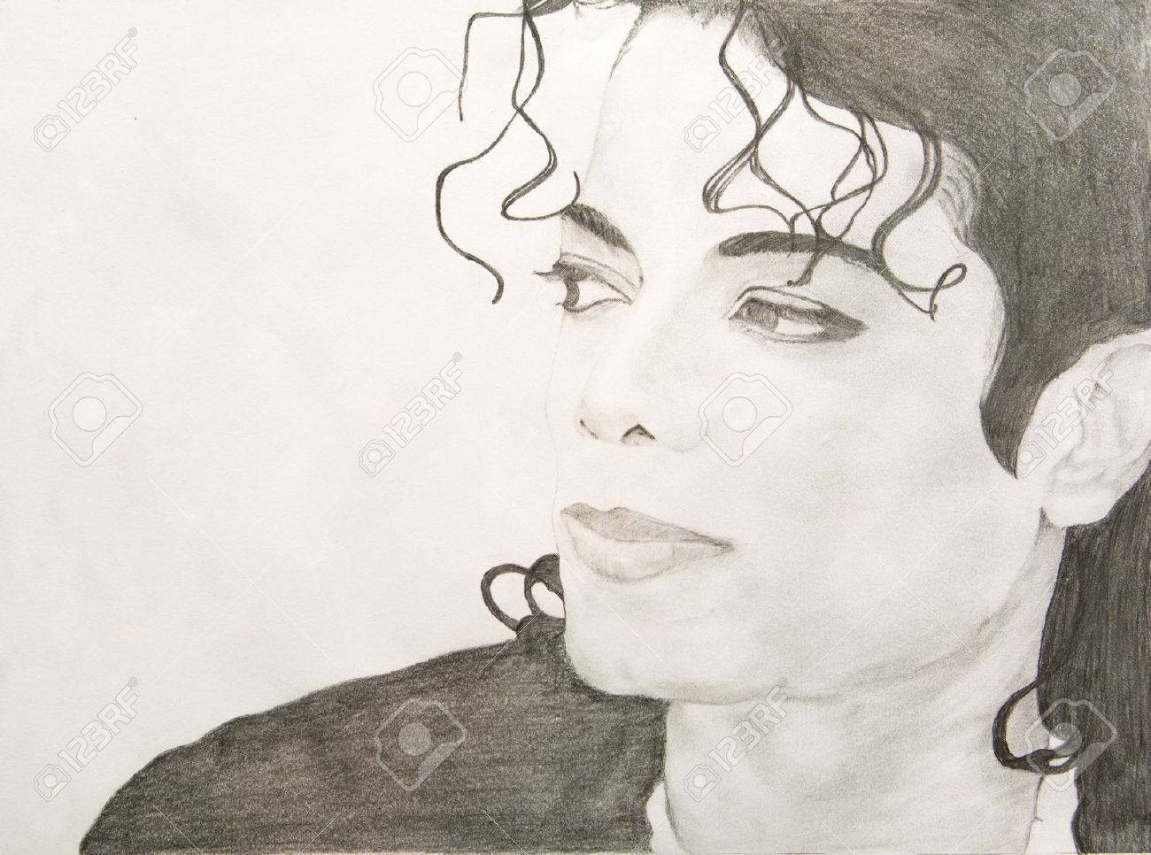 Michael jackson pencil sketch stock photo 35935787