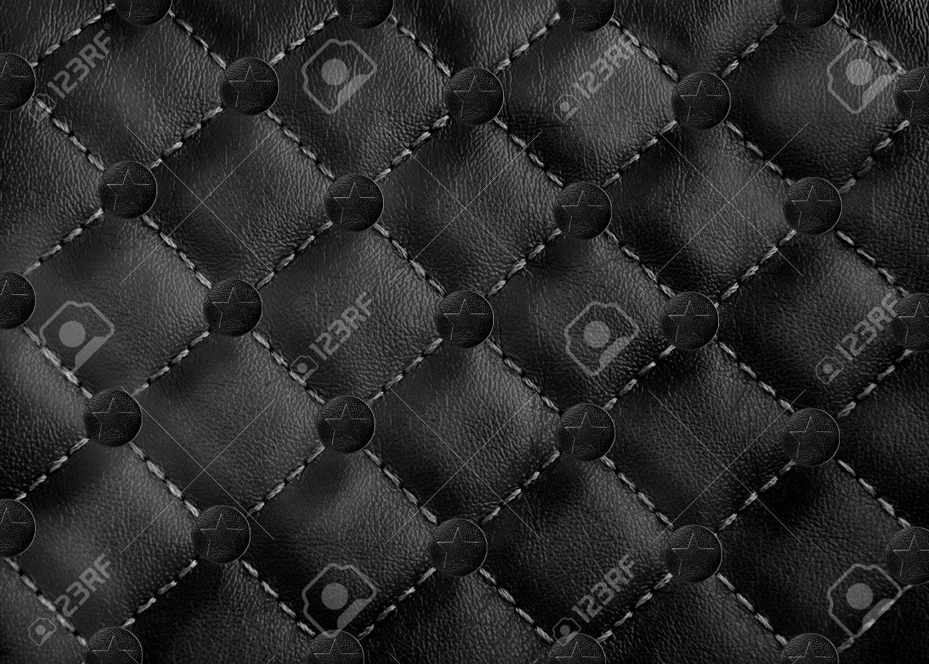 star in circle leather background Stock Photo - 12003363