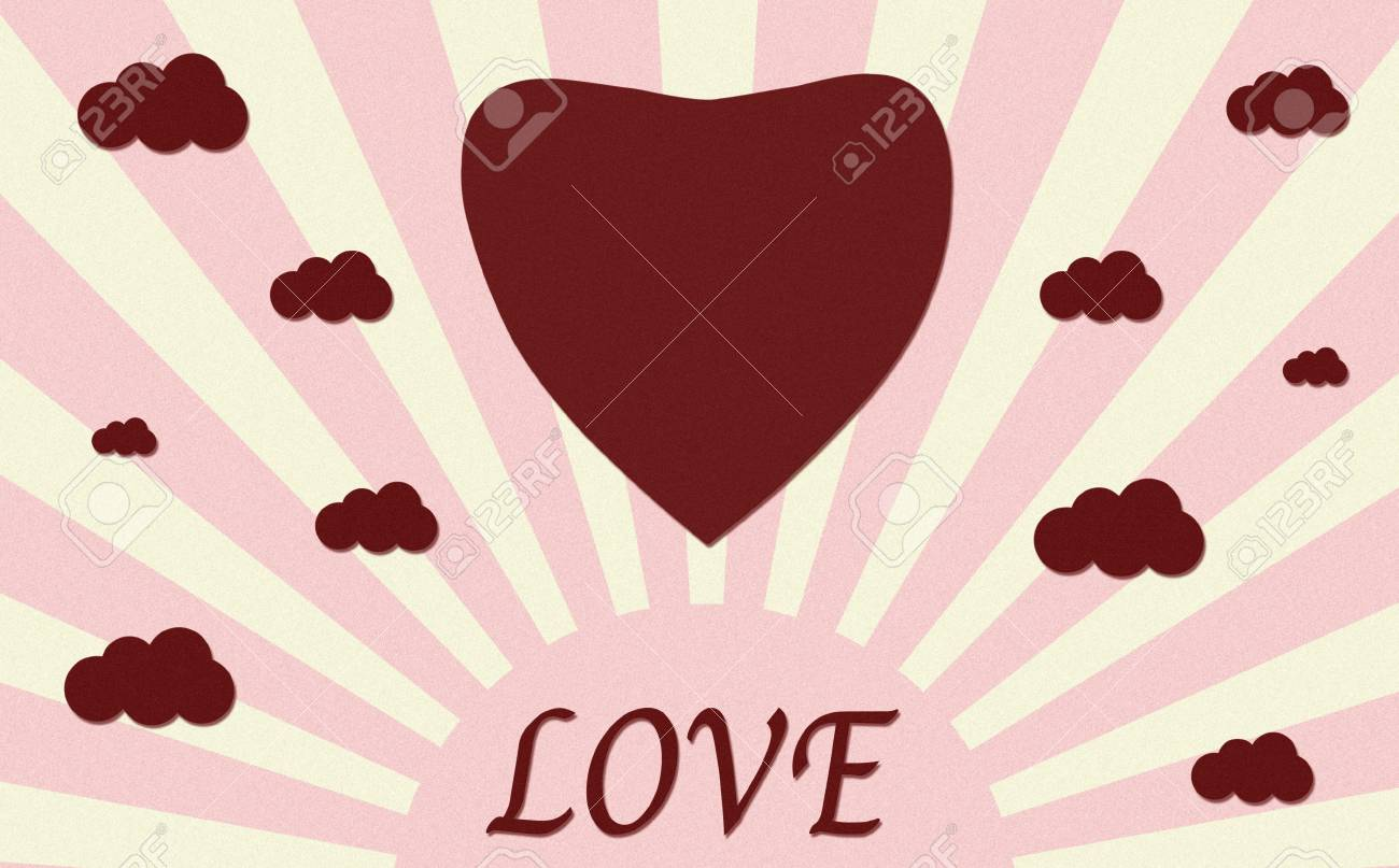 Vintage heart paper craft with love stock photo picture and vintage heart paper craft with love stock photo 12003437 jeuxipadfo Images