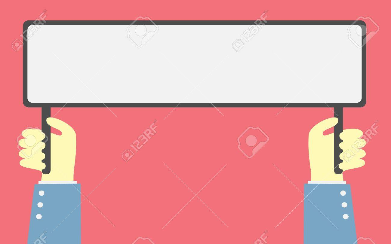 hand holding a banner Stock Vector - 20750534