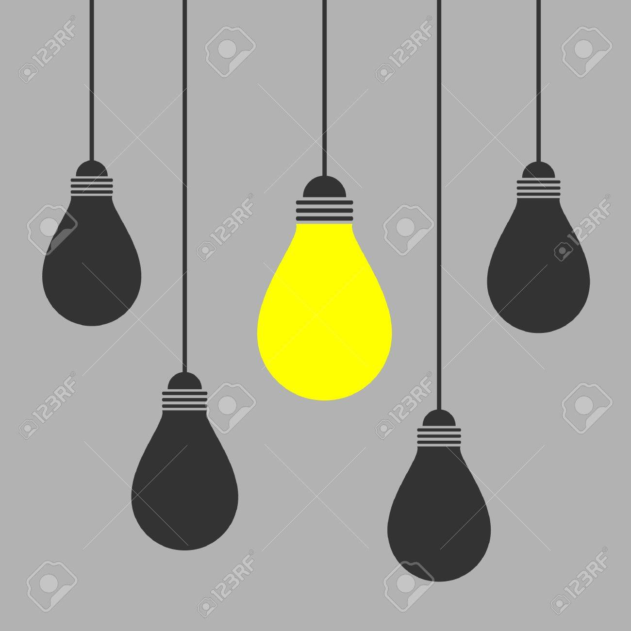 Hanging Light Bulb Vector