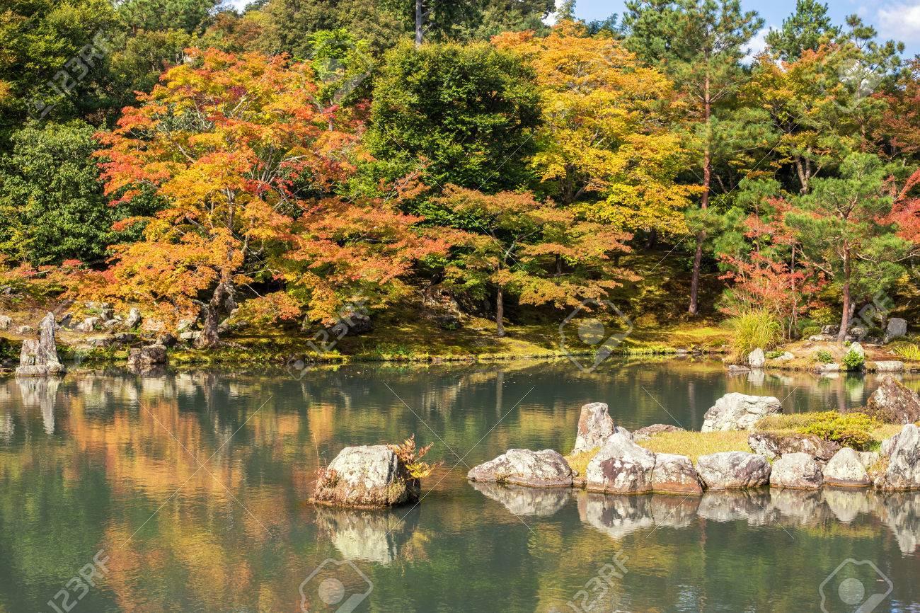 Zen Garden In Tenryu-ji Temple In Autumn Season At Arashiyama ...