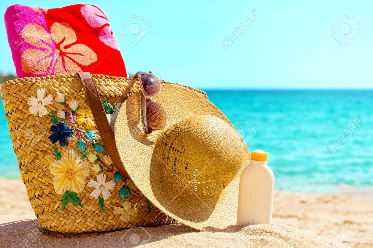 Beach necessities at the sunny beach - 30440357