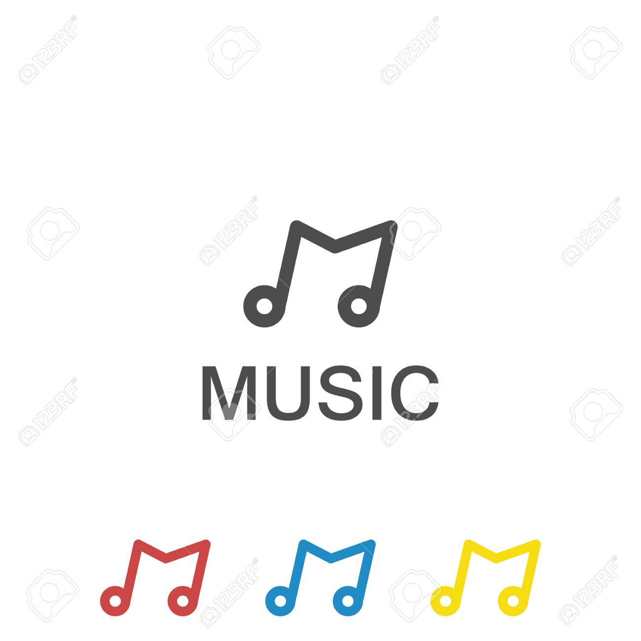 700c8f56f55a1 Initial letter M music logo template Stock Vector - 108329019