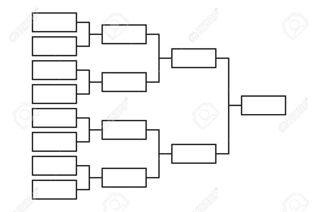 Tournament bracket 8 team icon template