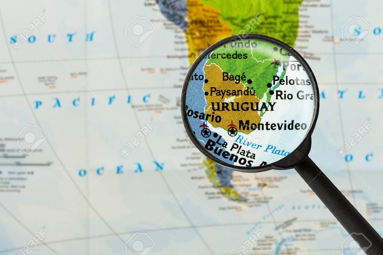 Uruguay Karte.Stock Photo