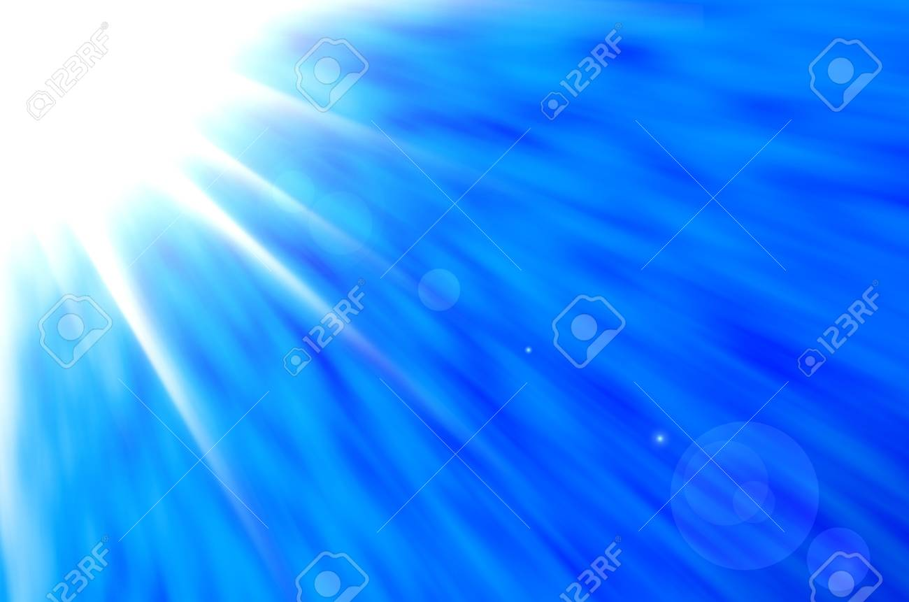 Sky background with sun burst and lens flare. Stock Photo - 14763887